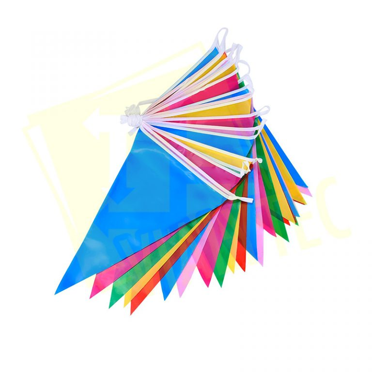 Banderin Plastico de colores