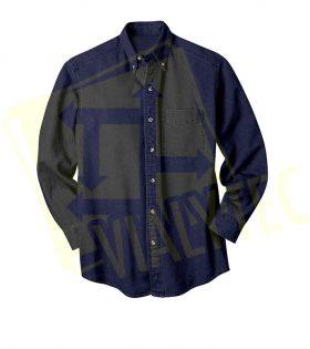 Camisa de mezclilla manga larga